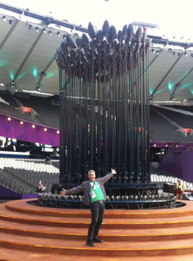 Philip during rehearsals for the Paralympic Opening Ceremony