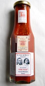 Old Nick award winning Scotch Bonnet sauce